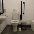 Radcliffe Humanities - Toilets - (2 of 6) - Toilet with right hand transfer space